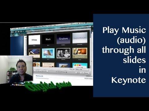 Keynote made easy - Play music (audio) through all slides