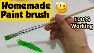 Homemade paint brush / how to make paint brush at home/ paining color brush/ diy painting brush