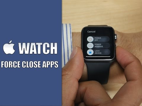How to force close an Apple Watch app