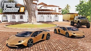 FS19- PURCHASING TWO NEW LAMBORGHINI AVENTADORS ($420,000) | ALL GOLD VEHICLES