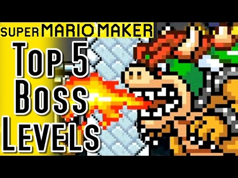 Super Mario Maker TOP 5 BOSS LEVELS (Wii U)