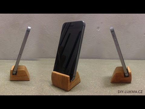 Cherry Wood Smartphone Holder DIY