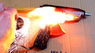 Exploding Hot Melt Glue Gun