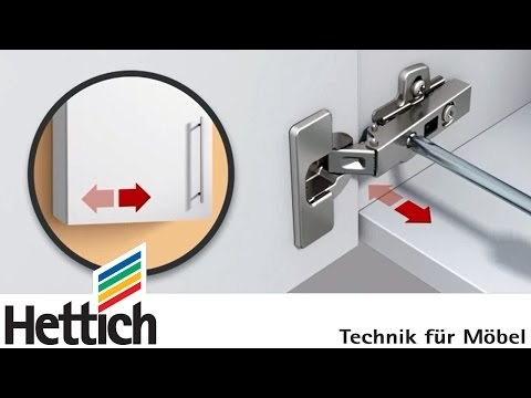 Adjusting cup hinges and doors: Do-It-Yourself with Hettich