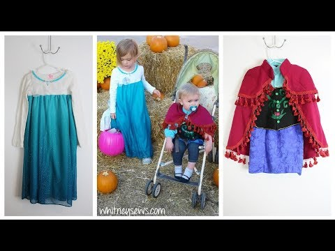 Frozen - Anna and Elsa Costumes | DIY Inspiration | Thrifted Refashion | Whitney Sews