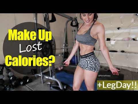Real Talk With Florina | Can You Make Up For Lost Calories? My Opinon | Leg Day Vlog 141