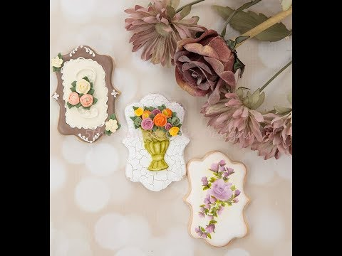 How to Decorate Autumn Floral Spray Cookies 🌼🌹🍂