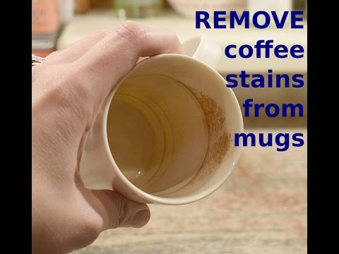 How To Clean Coffee Stains From Mug | Cleaning Cups | Clean With Me!