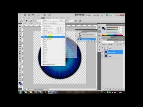 Creating realistic eye pupil in Photoshop CS5