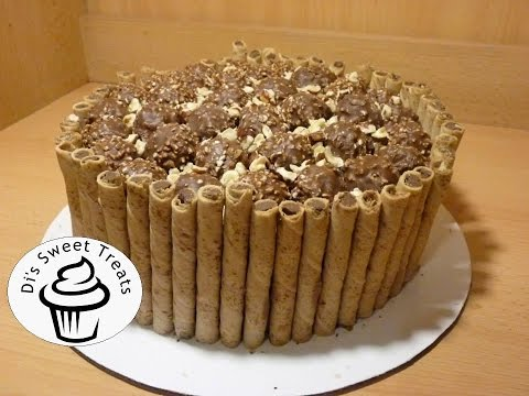Ferrero Rocher Cake with Nutella Frosting- Di's Sweet Treats