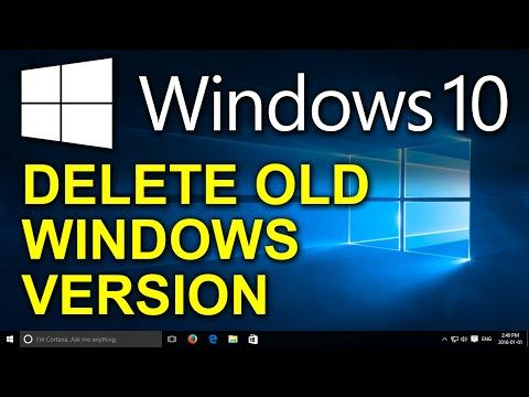 Windows 10 - Delete Old Windows Version 7, 8, 8.1 - Delete $Windows.~WS, $Windows.~BT, Windows.old