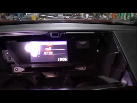 How to remove the upper display - Honda CR-V, 2012-2018, rearview camera image