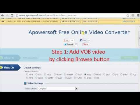 Desirable tool to convert VOB video to MP4