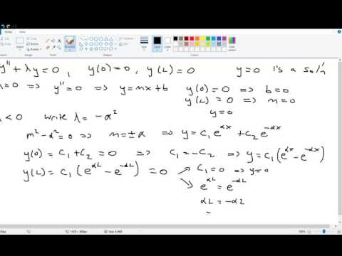 BVP Eigenvalues and Eigenfunctions