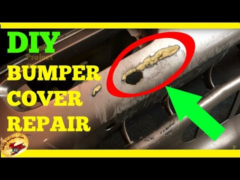 How To Repair a HOLE in A Bumper Cover!