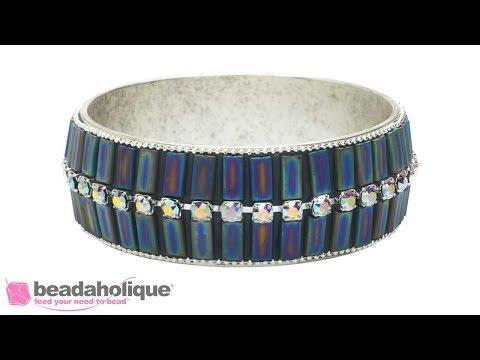 How to Make the Harper Bangle Bracelet using Miyuki Rectangle Beads