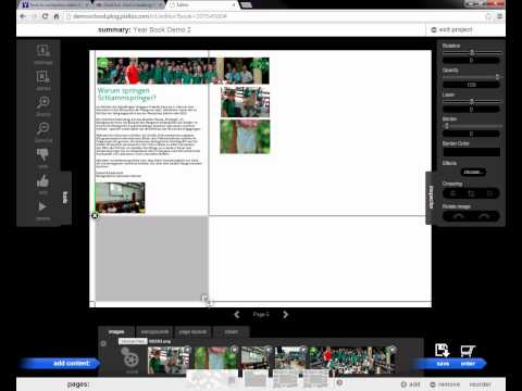 Free design layout on yearbook