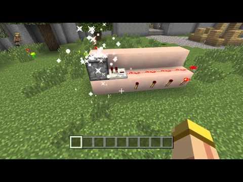 Minecraft: PlayStation®4 Edition: How to make a machinegun,flamethrower,firework launcher