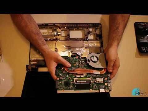 Change Thermal Paste a CPU - Laptop Asus K55VD Maintenance