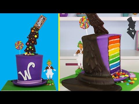 WONKA ILLUSION CAKE - The ULTIMATE Gravity Defying Willy Wonka Candy Cake
