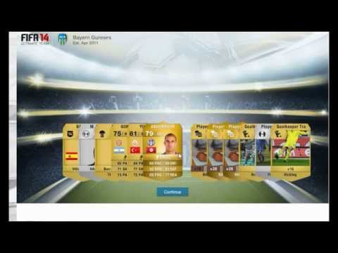 FIFA 14 WEB APP PACK OPENING! 7,500 COINS PACK AND 3 STARTERS!