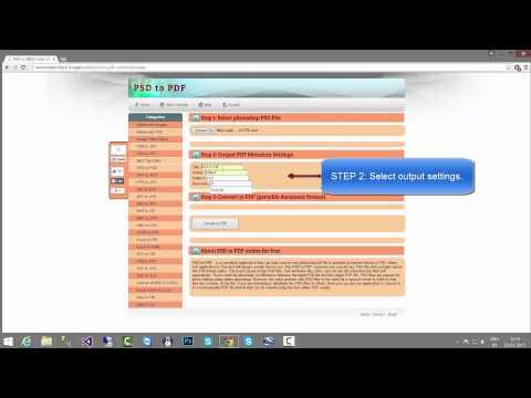 Photoshop PSD to PDF Conversion Online