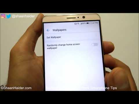 How to Automatically Change Wallpaper on Huawei P10, Mate 9, P9 or ANY Huawei Smartphone