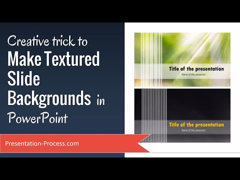 Creative trick to Make Textured Slide Backgrounds  in PowerPoint