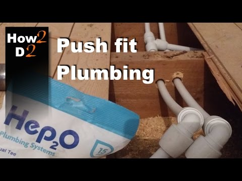 Push fit plumbing How to install  connect plastic water pipes in a bathroom