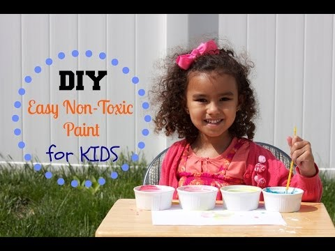 DIY Easy Non-Toxic Paint for Kids