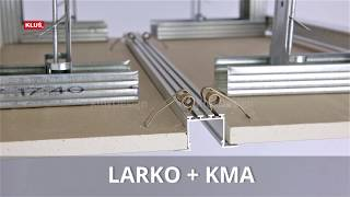 KLUS LLC - simple mounting of KLUŚ extrusions with KMA springs