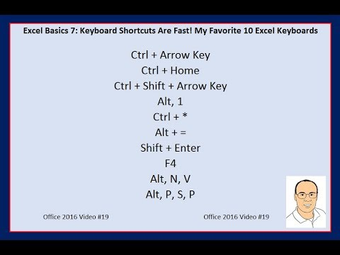 Excel Basics 7: Keyboard Shortcuts Are Fast!