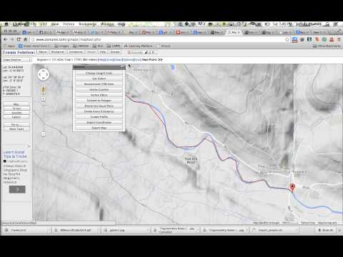 Creating a River Profile with Google Maps and Zonum MapTool 2