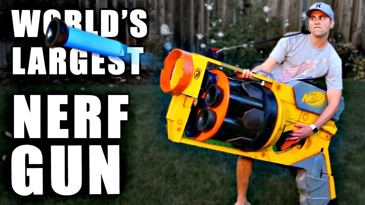 World's LARGEST NERF GUN!!