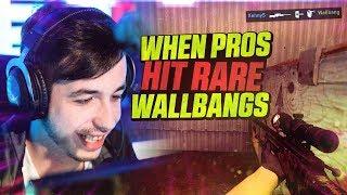 CS:GO - WHEN PROS HIT RARE WALLBANGS! ft. dupreeh, Fallen, Guardian & MORE!