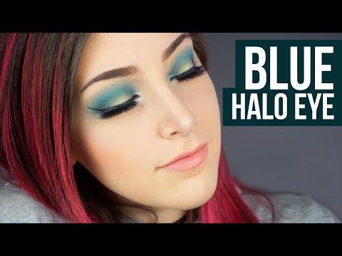 Drugstore Blue Halo Eye Makeup Tutorial || KELLI MARISSA
