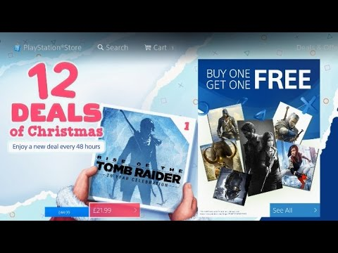 PS4 BUY 1 GET 1 FREE - PlayStation 12 Deals of Christmas DAY ONE EU