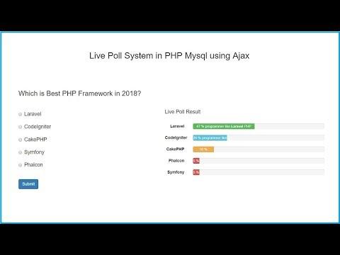 Live Poll System in PHP Mysql using Ajax