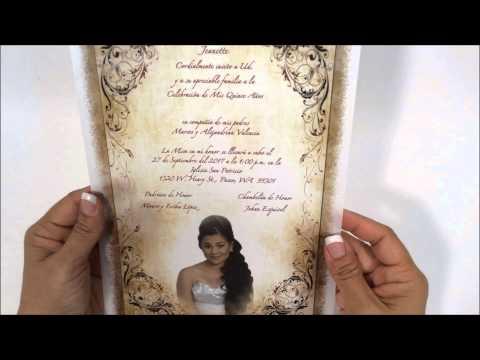 Quinceanera Invitation #MFV8 OT