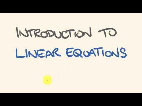 Linear Equations Introduction