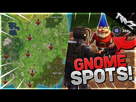 ALL GNOME LOCATIONS! VISIT DIFFERENT GNOME GUIDE! WHERE TO FIND GNOMES IN FORTNITE BATTLE ROYALE!