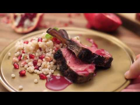 RED Pomegranate Lamb with Israeli Couscous