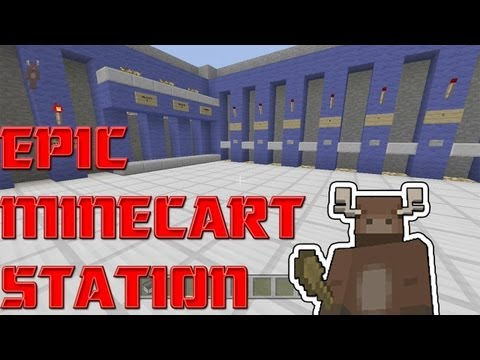 Minecraft Xbox 360 Minecart Station Awesome Build Ep. 4
