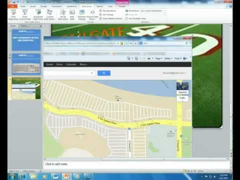 HOW TO TAKE A SCREENSHOT ON PC - GOOGLE MAPS -  POWERPOINT - CREATE JPEG