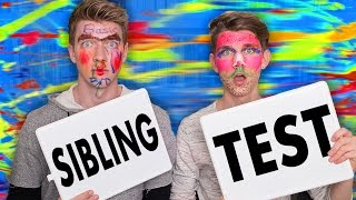 SIBLING TEST CHALLENGE w/FACE PAINT | Collins Key (Sibling Tag)