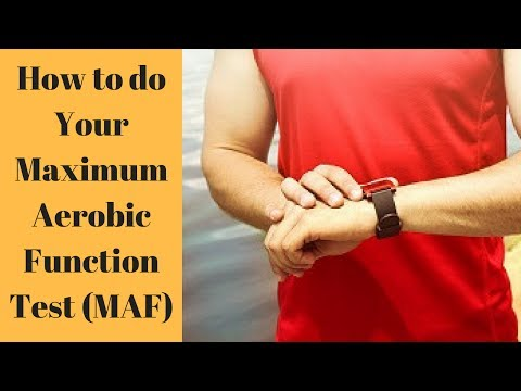 Step #2:  Your Maximum Aerobic Function Test (MAF test)