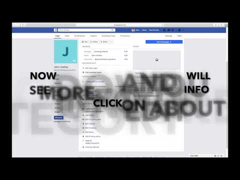 HOW TO EDIT BUSINESS OR COMMUNITY FACEBOOK PAGE'S ABOUT SECTION