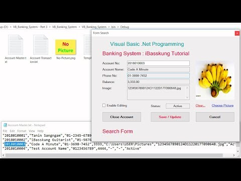 VB.Net 2017 (P3) Banking System - How to Search for a String in a text file