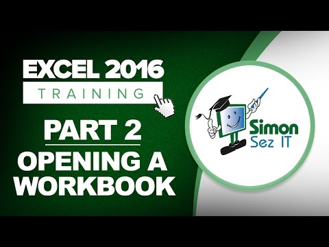 Excel 2016 for Beginners Part 2: How to Open a Workbook Using Excel 2016