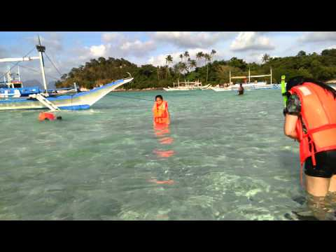 Snorkelling in Snake Island, Palawan, Philippines